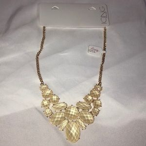 Gold and cream statement necklace